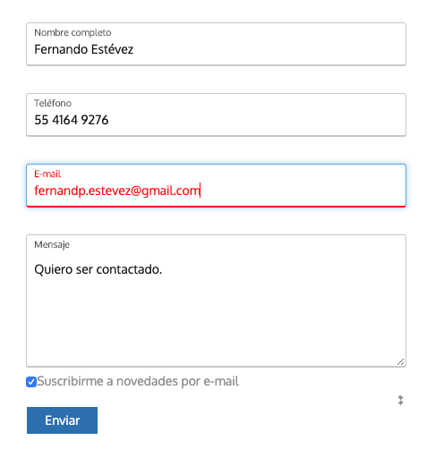 Validación y verificación de correo electrónico